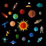 Διαστημικά εικονίδια καθορισμένα Στοκ φωτογραφία με δικαίωμα ελεύθερης χρήσης