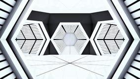 Διαστημικές σήραγγες διαδρόμων σταθμών Στοκ Φωτογραφία