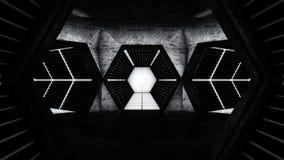 Διαστημικές σήραγγες διαδρόμων σταθμών Στοκ εικόνα με δικαίωμα ελεύθερης χρήσης