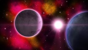 Διαστημική άποψη sci-Fi βρόχος ελεύθερη απεικόνιση δικαιώματος
