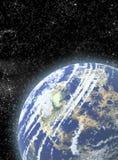 Διαστημική ανασκόπηση με τους πλανήτες και τα αστέρια Στοκ φωτογραφίες με δικαίωμα ελεύθερης χρήσης