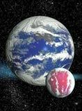 Διαστημική ανασκόπηση με τους πλανήτες και τα αστέρια Στοκ Εικόνες