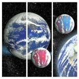Διαστημική ανασκόπηση με τους πλανήτες και τα αστέρια Στοκ Φωτογραφία