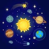 Διαστημική απεικόνιση Doodle διανυσματική απεικόνιση