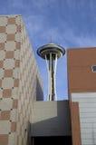 Διαστημική βελόνα αρχιτεκτονικής του Σιάτλ στοκ φωτογραφία με δικαίωμα ελεύθερης χρήσης