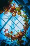 Διαστημική βελόνα του Σιάτλ μέσω Chiluly Στοκ Εικόνες