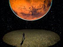 Διαστημική μοναξιά λίγο πρόσωπο Στοκ Εικόνες