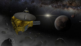 Διαστημική μύγα ελέγχων της New Horizons στη ζώνη Kuiper Στοκ φωτογραφία με δικαίωμα ελεύθερης χρήσης