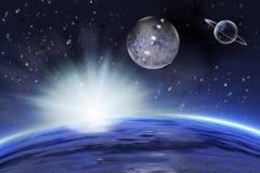 Διαστημική σκηνή Στοκ φωτογραφίες με δικαίωμα ελεύθερης χρήσης