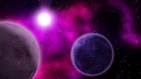 Διαστημική σκηνή sci-Fi seamless ελεύθερη απεικόνιση δικαιώματος