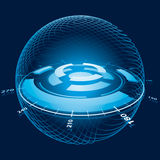 διαστημική σφαίρα ναυσιπ&lam Στοκ Εικόνες