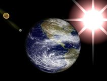 διαστημική όψη ήλιων γήινων φ Στοκ Φωτογραφία
