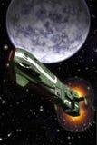 Διαστημικοί μαχητής και πλανήτης απεικόνιση αποθεμάτων