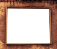 διαστημικός άσπρος ξύλινος πλαισίων Στοκ φωτογραφία με δικαίωμα ελεύθερης χρήσης