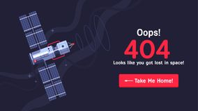Διαστημικός-404 αντίγραφο Στοκ εικόνες με δικαίωμα ελεύθερης χρήσης