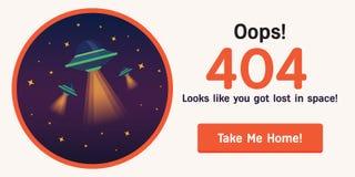 Διαστημικός-404-2 αντίγραφο διανυσματική απεικόνιση