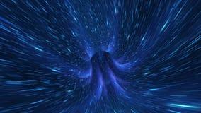 Διαστημικός κοσμικός βρόχος στρεβλώσεων διανυσματική απεικόνιση
