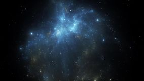 Διαστημικός μετασχηματισμός νεφελώματος διανυσματική απεικόνιση