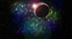 Διαστημικός μικρός και είναι μεγαλύτερος από ένα αστέρι διανυσματική απεικόνιση