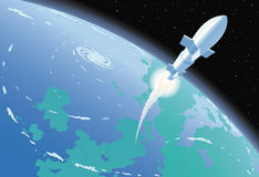 Διαστημικός πύραυλος Στοκ εικόνες με δικαίωμα ελεύθερης χρήσης