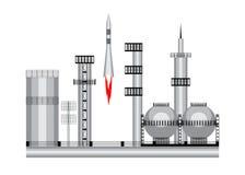 Διαστημικός πύραυλος εικονιδίων ελεύθερη απεικόνιση δικαιώματος