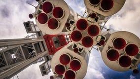 Διαστημικός πύραυλος στη εξέδρα εκτόξευσης πυραύλων Στοκ φωτογραφία με δικαίωμα ελεύθερης χρήσης