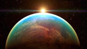 Διαστημικός πλανήτης Γη Στοκ εικόνες με δικαίωμα ελεύθερης χρήσης