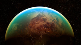 Διαστημικός πλανήτης Γη Στοκ Εικόνα