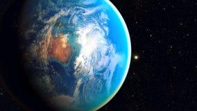 Διαστημικός πλανήτης Γη Στοκ Εικόνες