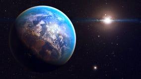 Διαστημικός πλανήτης Γη Στοκ Φωτογραφία