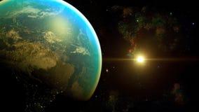 Διαστημικός πλανήτης Γη Στοκ φωτογραφία με δικαίωμα ελεύθερης χρήσης
