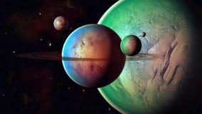 Διαστημικός πλανήτης Στοκ Φωτογραφία