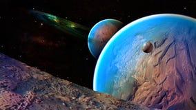 Διαστημικός πλανήτης Στοκ εικόνες με δικαίωμα ελεύθερης χρήσης