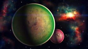 Διαστημικός πλανήτης Στοκ εικόνα με δικαίωμα ελεύθερης χρήσης