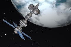Διαστημικός-σταθμός Στοκ φωτογραφίες με δικαίωμα ελεύθερης χρήσης