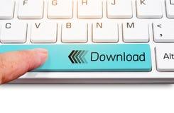 Διαστημικός φραγμός πληκτρολογίων κίτρινος με Download Στοκ φωτογραφία με δικαίωμα ελεύθερης χρήσης