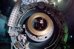 Διαστημικός δύτης σκαφάνδρων Στοκ Φωτογραφίες