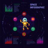 Διαστημικός infographic Στοκ Εικόνες