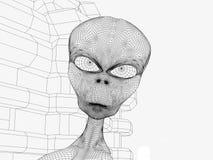 Διαστημικό αλλοδαπό κεφάλι Στοκ φωτογραφία με δικαίωμα ελεύθερης χρήσης