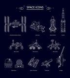 Διαστημικό εικονίδιο Στοκ εικόνα με δικαίωμα ελεύθερης χρήσης