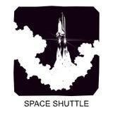Διαστημικό λεωφορείο, διανυσματική σκιαγραφία Στοκ φωτογραφία με δικαίωμα ελεύθερης χρήσης