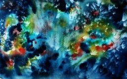 Διαστημικό ζωηρόχρωμο υπόβαθρο Watercolor διανυσματική απεικόνιση