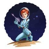 Διαστημικό κορίτσι Στοκ Φωτογραφία