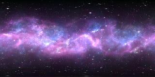 Διαστημικό νεφέλωμα με τα αστέρια Περιβάλλον 360 εικονικής πραγματικότητας χάρτης HDRI Equirectangular προβολή κόσμου, σφαιρικό π διανυσματική απεικόνιση