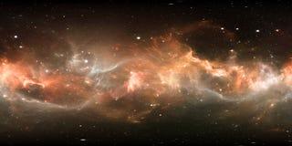 διαστημικό πανόραμα γαλαξιών 360 βαθμού, equirectangular προβολή, χάρτης περιβάλλοντος Σφαιρικό πανόραμα HDRI απεικόνιση αποθεμάτων