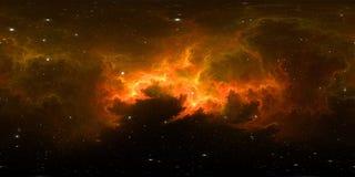 διαστημικό πανόραμα νεφελώματος 360 βαθμού, equirectangular προβολή, χάρτης περιβάλλοντος Σφαιρικό πανόραμα HDRI Διαστημικό υπόβα απεικόνιση αποθεμάτων