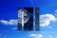 διαστημικό παράθυρο Στοκ φωτογραφίες με δικαίωμα ελεύθερης χρήσης