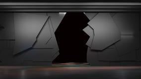 Διαστημικό περιβάλλον, έτοιμο για το comp των χαρακτήρων σας τρισδιάστατο renderin Στοκ εικόνες με δικαίωμα ελεύθερης χρήσης