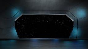 Διαστημικό περιβάλλον, έτοιμο για το comp των χαρακτήρων σας τρισδιάστατο renderin Στοκ Εικόνες