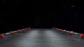 Διαστημικό περιβάλλον, έτοιμο για το comp των χαρακτήρων σας Στοκ Εικόνες